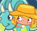 שרה המפוזרת רוקדת עם דינוזאורים