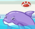 שרה מפוזרת עם דולפינים