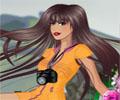 מטיילת פרועת שיער